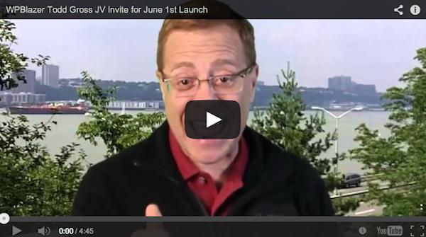 Giri P - WP Blazer 2.0 affiliate program JV invite video (featuring Todd Gross)