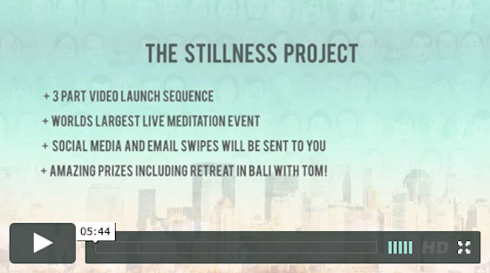 Tom Cronin - The Stillness Project affiliate program JV invite video