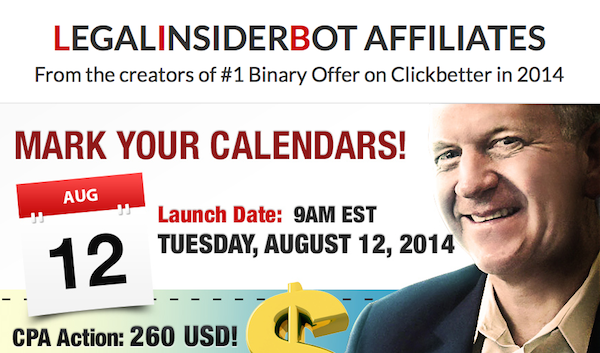 Insured Legalinsider Robot CPA affiliate program JV invite