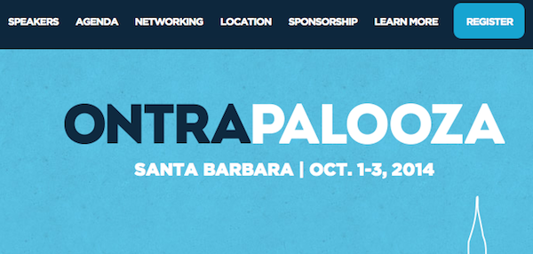 Ontraport's Live Event (Ontrapalooza) 2014 affiliate program JV invite