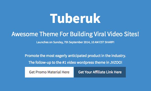 Tuberuk video WP theme affiliate program JV invite
