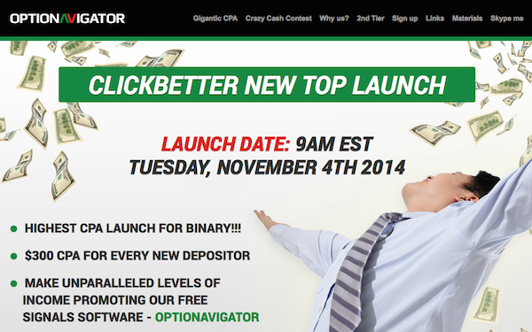 OptioNavigator 2014 Launch Affiliate Program JV Invite