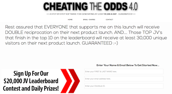 Cheating The Odds 4.0 CPA affiliate program JV invite
