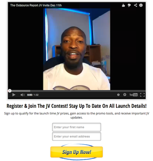 Michael Baptiste - The Outsource Report Launch Affiliate Program JV Invite Video