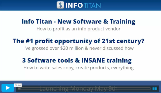 Chris X + Ken O - Info Titan info & digital product training and marketing software launch JVZoo affiliate program JV invite video