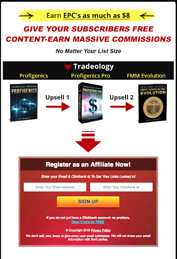Tradeology - Profigenics Evergreen Forex Funnel Launch ClickBank affiliate program JV invite - Launch Day: Sunday, September 2nd 2018