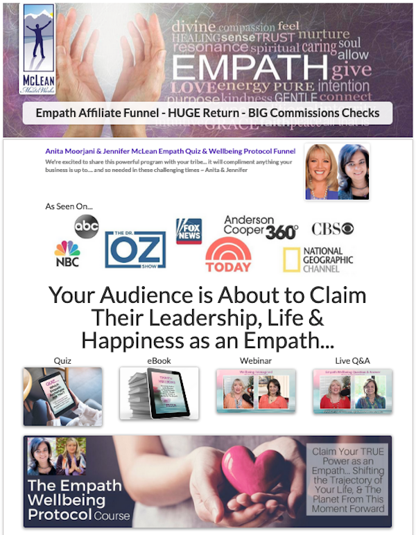 Empath Quiz & Wellbeing Protocol Funnel launch affiliate program JV invite - Pre-Launch Begins: Monday, July 13th 2020 - Launch Day: Monday, July 20th 2020