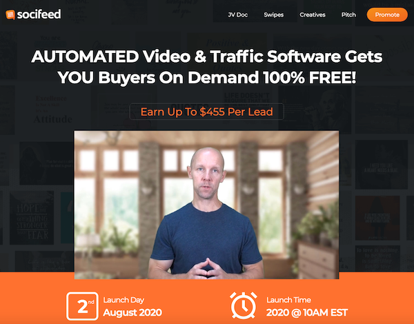 Brett Ingram + Mo Latif - Socifeed Commercial video software launch JVZoo affiliate program JV invite - Launch Day: Sunday, August 2nd 2020 @ 10AM EST - Saturday, August 8th 2020 @ 11:59PM EST