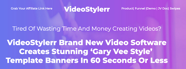 VideoStylerr video template software launch JVZoo affiliate program JV invite - Launch Day: Monday, August 3rd 2020 @ 11AM EST - Saturday, August 8th 2020 @ 11:59PM EST