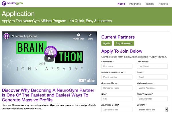 John Assaraf - NeuroGym Live Brain-A-Thon 2020 launch high ticket affiliate program JV invite - Launch Day: Thursday, November 5th 2020 - Monday, November 16th 2020
