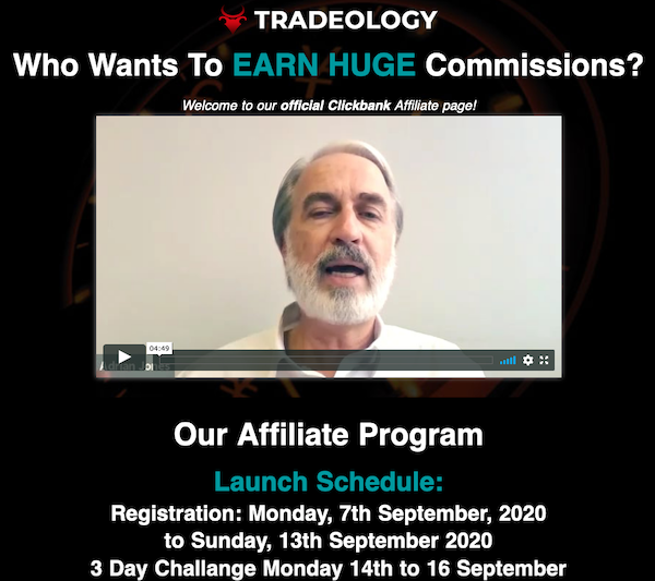 Tradeology - 3-Day Forex Challenge FX system training launch ClickBank affiliate program JV invite video - Launch Day: Monday, September 7th 2020 - Monday, September 14th 2020