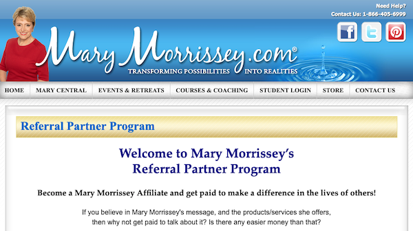 Mary Morrissey - 8 Spiritual Secrets For Multiplying Your Money Launch Affiliate Program JV Registration Page - Launch Day: Monday, March 15th 2021 - Monday, March 29th 2021