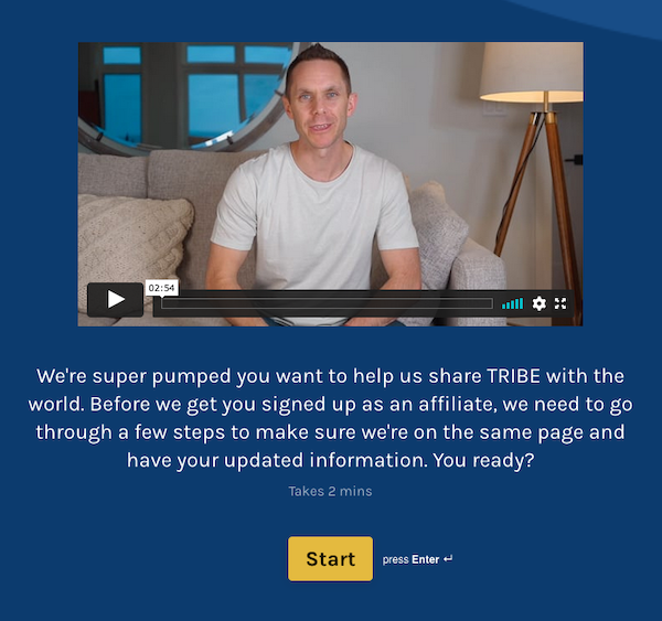 Stu McLaren - TRIBE 2021 Launch Affiliate Program JV Request Page - Pre-Launch Phase: Thursday, April 22nd 2021 - Friday, April 30th 2021- Launch Day (Webinar & Open Cart): Saturday, May 1st 2021