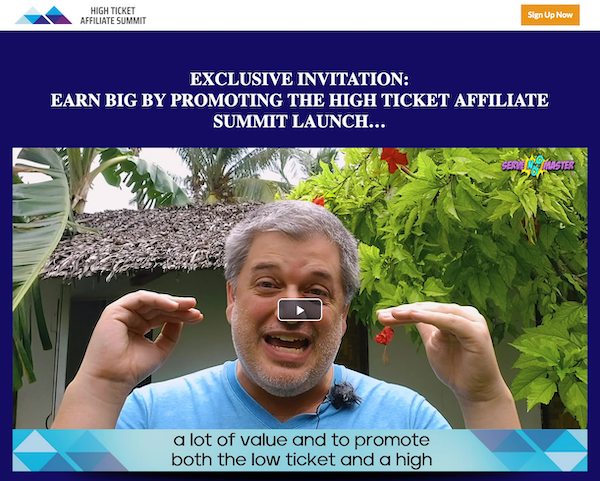 Jonathan Green - High Ticket Affiliate Summit Launch Affiliate Program JV Invite Page - Pre-Launch Begins: Tuesday, April 13th 2021 - Launch Day: Monday, May 3rd 2021 - Friday, May 7th 2021