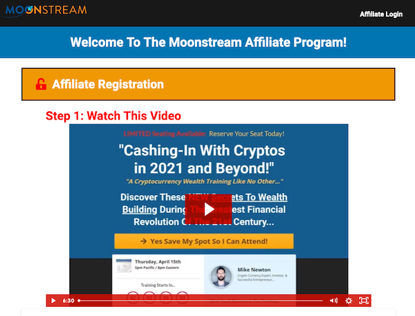 Mike Newton - Moonstream Launch High-Ticket Affiliate Program JV Invite Page - Launch Day: Monday, April 12th 2021 - Sunday, April 18th 2021