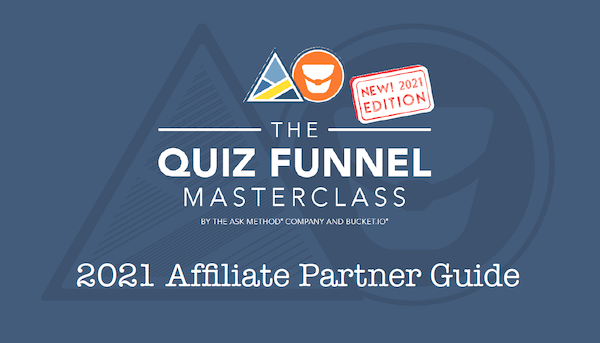 Ryan Levesque - The ASK Method - The Quiz Funnel Masterclass 2021 Launch Affiliate Program JV Request Page - Pre-Launch Begins: Saturday, June 5th 2021 - Launch Day (Open Cart): Sunday, June 20th 2021