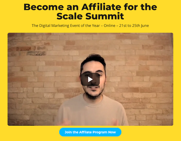 Alessio Pieroni - Scale Summit - Online Digital Marketing Event Affiliate Program JV Request - Pre-Launch Begins: Monday, May 17th 2021 - Launch Day: Monday, June 21st - 25th 2021