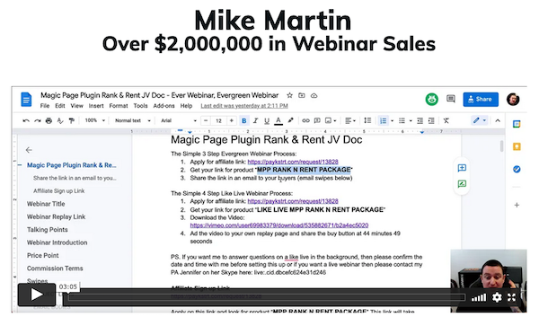 Michael Martin - Lead Simplify - The Ultimate Agency Automation Platform - Webinar Promo Affiliate Program JV Request Page - Evergreen Affiliate Program Announced: Friday, July 9th 2021
