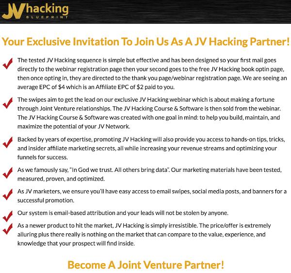 Glen Ledwell, Ridgely Goldsborough + Mike Filsaime - JV Hacking Course & Software Affiliate Program JV Invite Page - Evergreen Affiliate Program Announced: Friday, August 13th 2021