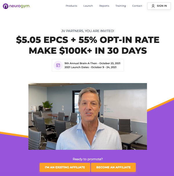 John Assaraf - NeuroGym - 9th Annual Brain-A-Thon Launch Affiliate Program JV Invite Page - Pre-Launch Begins: Saturday, October 9th 2021 - Launch Day: Saturday, October 23rd 2021 - Sunday, October 24th 2021